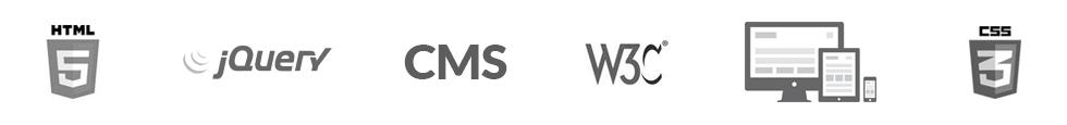 CMS, HTML5, JQUERY, W3C, Responsive Webdesign, Wordpress, CSS3