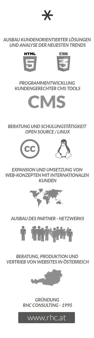 rhc websolutions - cc - Linux - HTML5  CSS3 - Partner - Netzwerk